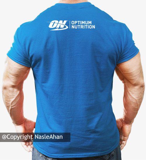 تیشرت آبی Optimum Nutrition