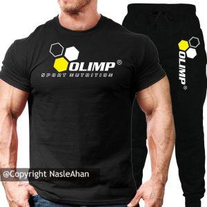 ست شلوار و تیشرت مشکی Olimp Sport