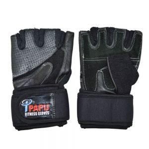 دستکش بدنسازی چرمی مدل PAPU-XL