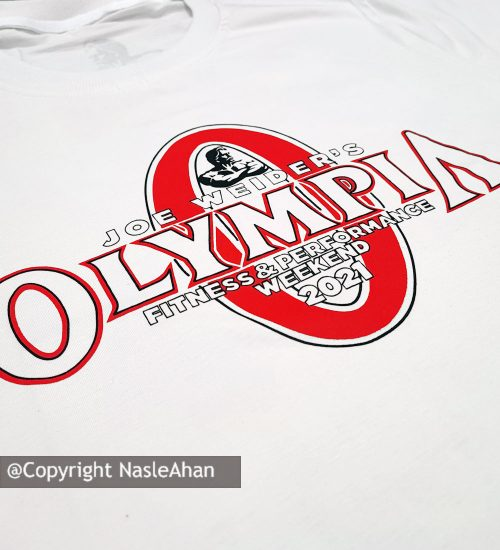 تیشرت سفید المپا Mr. Olympia